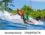 picture of surfing a wave. bali ... | Shutterstock . vector #196845674
