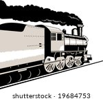 steam train viewed from over... | Shutterstock . vector #19684753