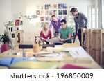 meeting in architects office | Shutterstock . vector #196850009