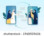 muslim families video... | Shutterstock .eps vector #1968505636