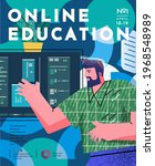 online education. vector... | Shutterstock .eps vector #1968548989