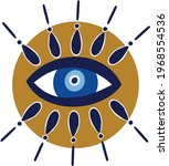 evil eye vector   symbol of... | Shutterstock .eps vector #1968554536