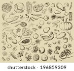vector illustration of a set of ... | Shutterstock .eps vector #196859309