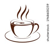 coffee cup icon. hot coffee... | Shutterstock .eps vector #1968600259