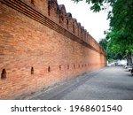 Ancient Wall Of Tha Phae Gate...