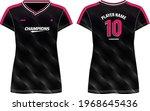 women sports jersey t shirt... | Shutterstock .eps vector #1968645436