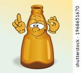 glass bottle cartoon mascot.... | Shutterstock . vector #1968651670