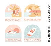 tropic and marine vacation logo ... | Shutterstock .eps vector #1968656089