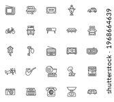retro items line icons set.... | Shutterstock .eps vector #1968664639