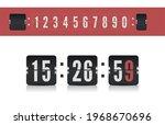 scoreboard number font. vector...
