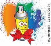 graffiti spray. spray paint... | Shutterstock . vector #1968672979