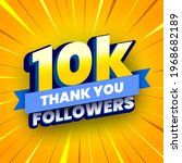 10000 followers banner with... | Shutterstock .eps vector #1968682189
