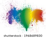 rainbow. colorful stain... | Shutterstock .eps vector #1968689830