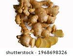 ginger. isolated ginger on...   Shutterstock . vector #1968698326