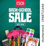 back to school sale vector...   Shutterstock .eps vector #1968711646