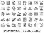 autonomous car icons set.... | Shutterstock .eps vector #1968736360