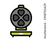 vector waffle iron icon. color...   Shutterstock .eps vector #1968761629