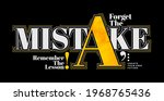 forget mistake  remember lesson ...   Shutterstock .eps vector #1968765436