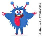 happy cartoon monster....   Shutterstock .eps vector #1968766096