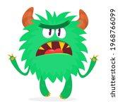 angry cartoon monster. vector...   Shutterstock .eps vector #1968766099