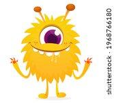 happy cartoon monster....   Shutterstock .eps vector #1968766180