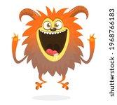 happy cartoon flying  monster....   Shutterstock .eps vector #1968766183