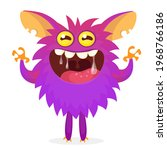 happy cartoon monster....   Shutterstock .eps vector #1968766186