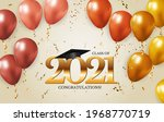 graduation class of 2021 with... | Shutterstock .eps vector #1968770719