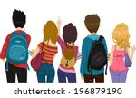 back view illustration of... | Shutterstock .eps vector #196879190