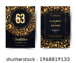 63rd years birthday vector...   Shutterstock .eps vector #1968819133
