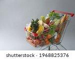 Shopping Cart Full Of Groceries ...