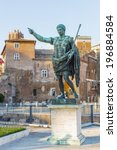 Small photo of Rome. Bronze sculpture of the Emperor Octavian Augustus