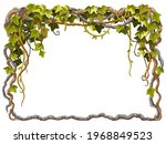 ivy frame. liana branches and...   Shutterstock .eps vector #1968849523