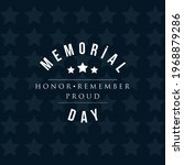 memorial day   remember and... | Shutterstock .eps vector #1968879286