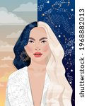 a beautiful attractive girl... | Shutterstock .eps vector #1968882013