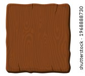 old brown wooden board on white ... | Shutterstock .eps vector #1968888730
