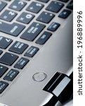 power button on laptop computer ... | Shutterstock . vector #196889996