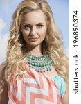 close up portrait of pretty... | Shutterstock . vector #196890374