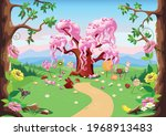 sweet tree and candy land in a...