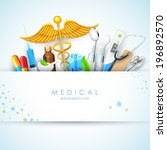 illustration of healthcare and... | Shutterstock .eps vector #196892570