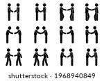 handshake stick figure man side ... | Shutterstock .eps vector #1968940849