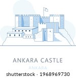 ankara castle  ankara  turkey.... | Shutterstock .eps vector #1968969730