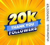 20000 followers banner with... | Shutterstock .eps vector #1969005769