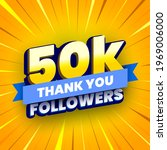 50000 followers banner with... | Shutterstock .eps vector #1969006000