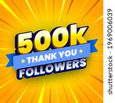 500000 followers banner with... | Shutterstock .eps vector #1969006039