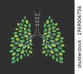 human lungs leaf. healthy...   Shutterstock .eps vector #1969006756