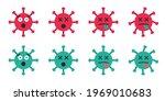 set of emoticon viruses  covid... | Shutterstock .eps vector #1969010683