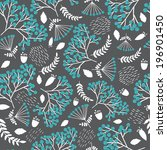seamless vintage pattern with... | Shutterstock .eps vector #196901450