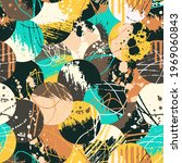 grunge abstract pattern.... | Shutterstock .eps vector #1969060843