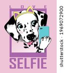 dalmatian puppy portrait with... | Shutterstock .eps vector #1969072900